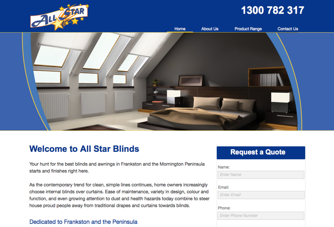 All Star Blinds – web content