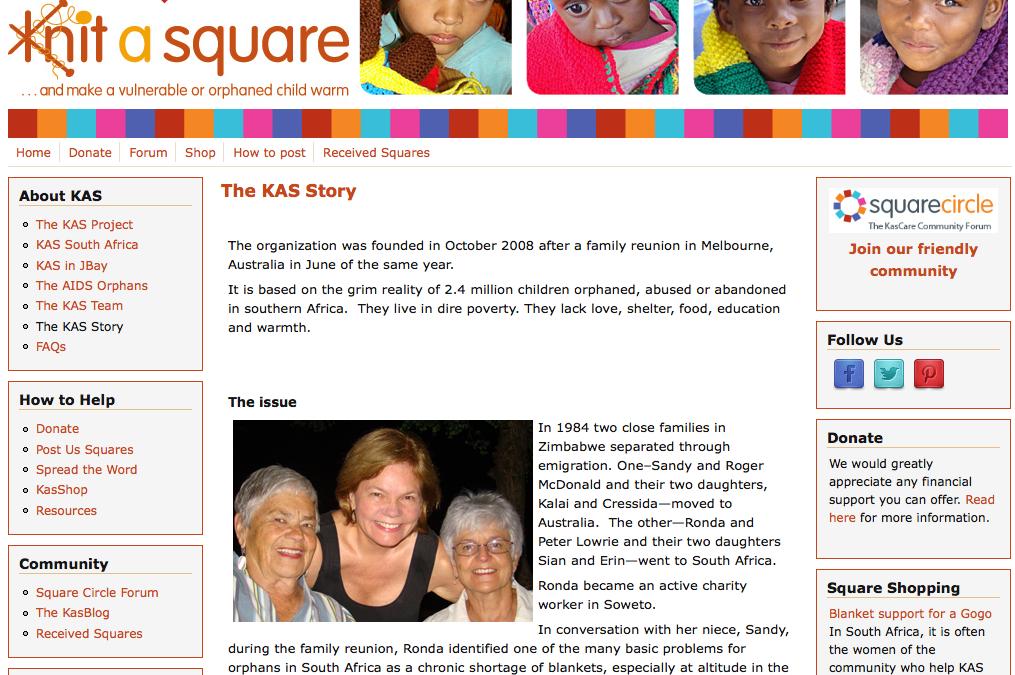 Knit-a-square – blogging