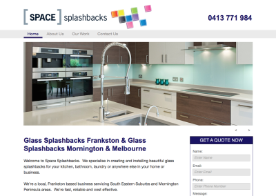 Space Splashbacks – web content