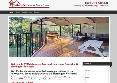 TT Maintenance – web content