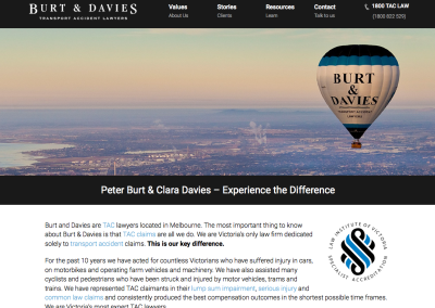 Burt & Davies, lawyers – web content