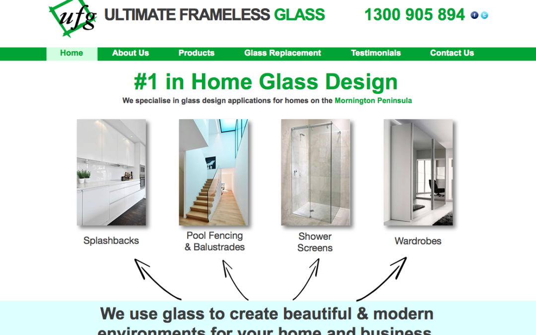 Ultimate Frameless Glass – web content