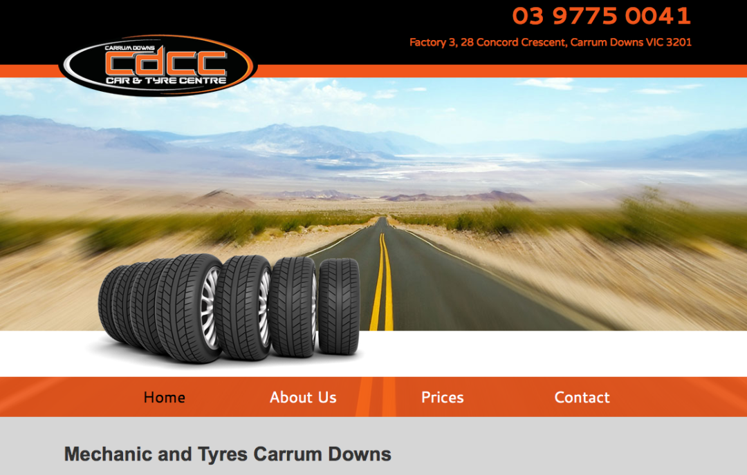 Carrum Downs Car and Tyre Centre—web content