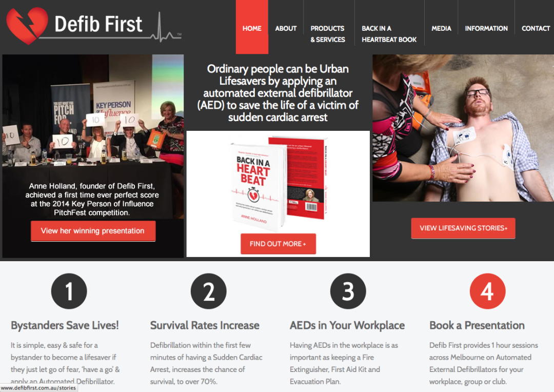 Defib First – web content