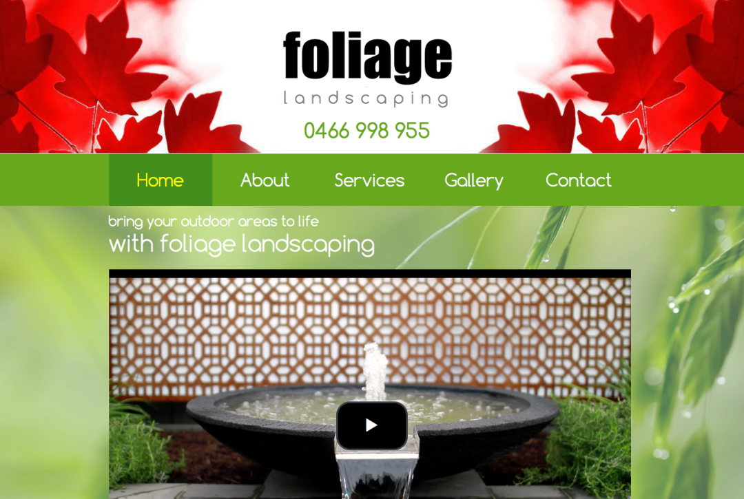 Foliage Landscaping – web content